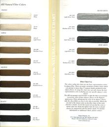 According the the commerical textile mills of Peru, alpaca fiber is naturally produced in at least 22 distinct shades of color - ranging from a warm white, through tan or golden hued 'fawns', and browns, some with reddish tones, to jet black.  This color chart is available from ARI to aid in identifying an alpaca's color.